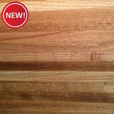 New! Red Oak Butcher Block Backsplash 8ft.