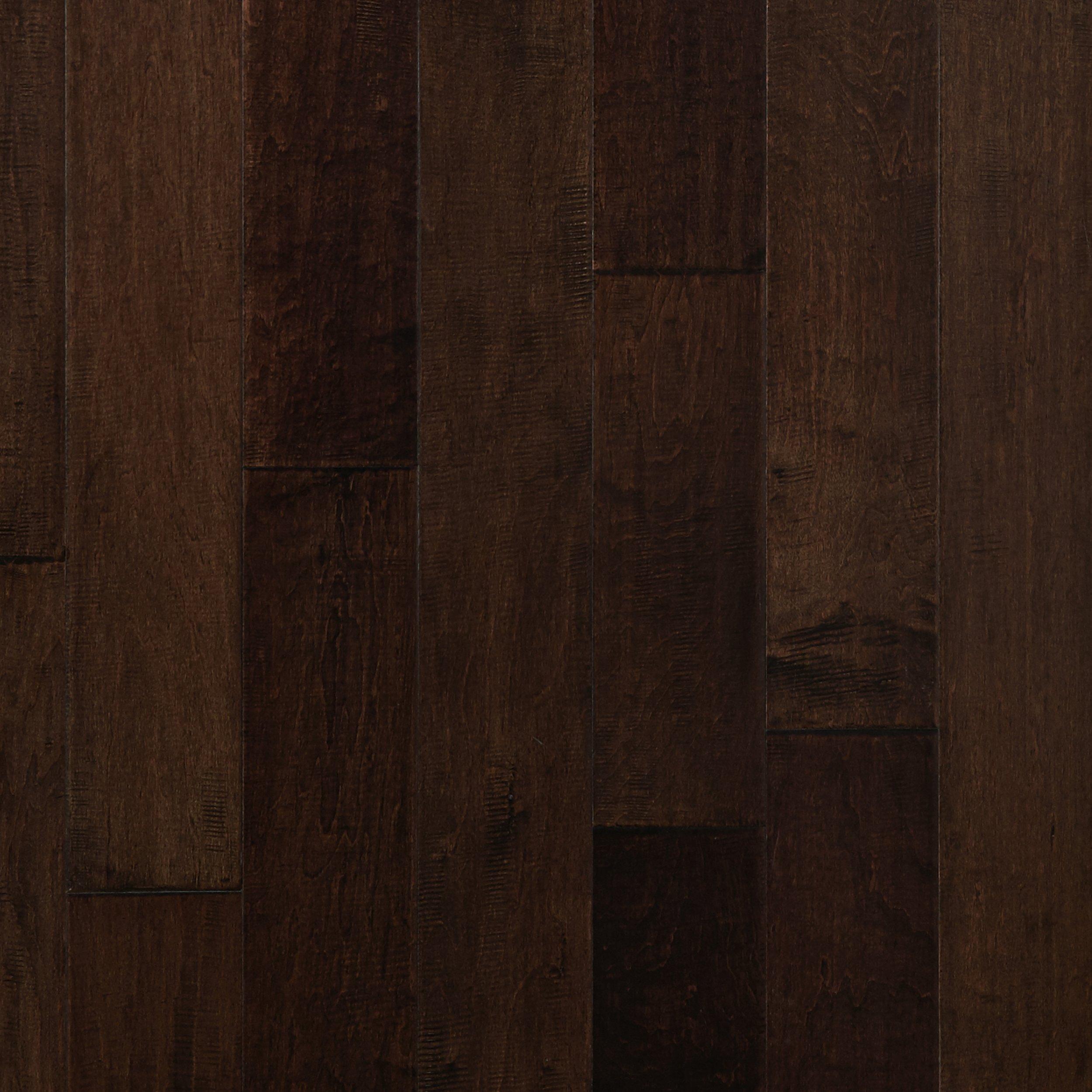 Cocoa Brown Maple Hand Scraped Engineered Hardwood   3/8in. X 5in.    100076405   Floor And Decor