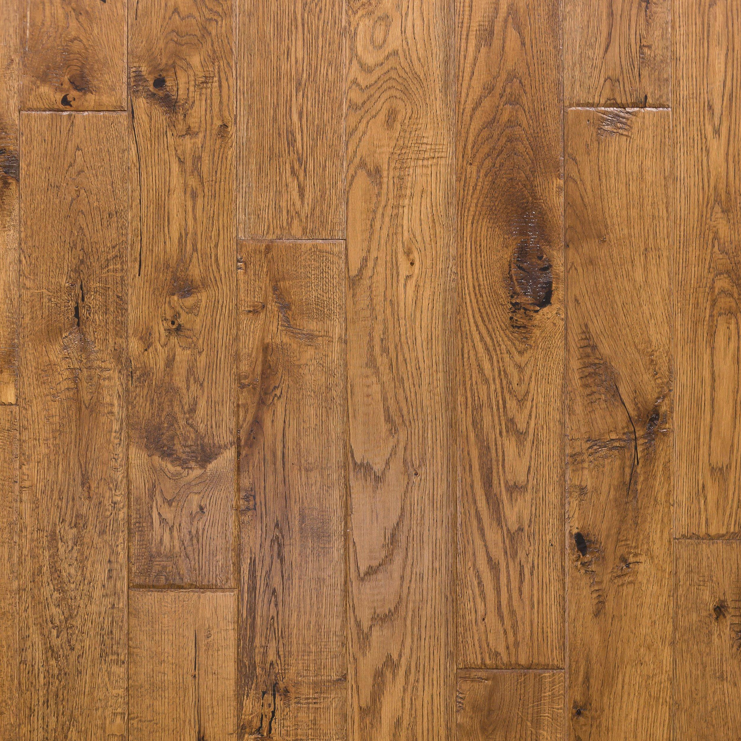 honey oak hand scraped solid hardwood 58in x 4 34in floor and decor - Hand Scraped Hardwood