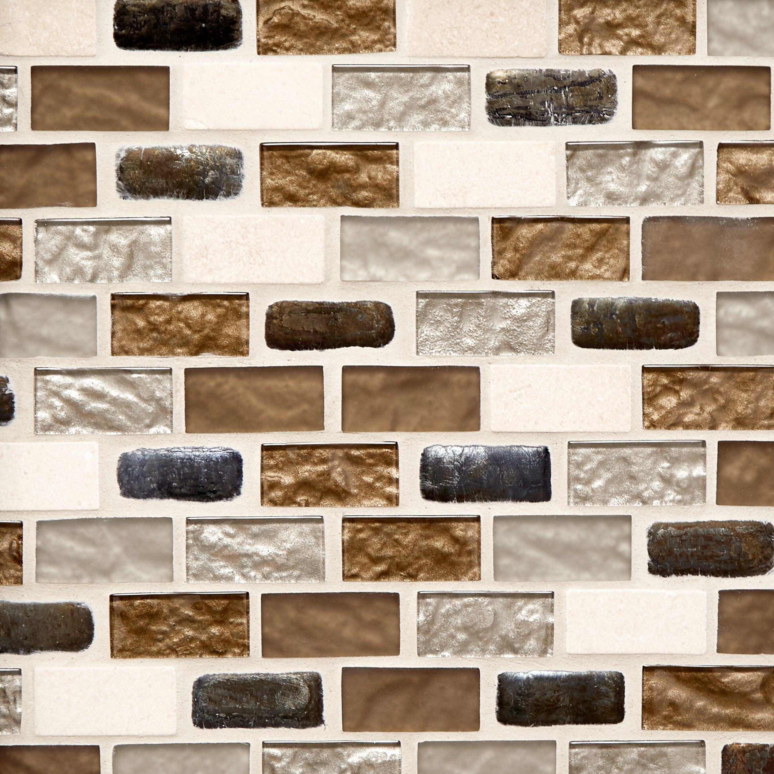 glass and travertine mix brick glass mosaic 11 x 13 100084417 rh flooranddecor com Ivory Travertine Backsplash Ivory Travertine Backsplash
