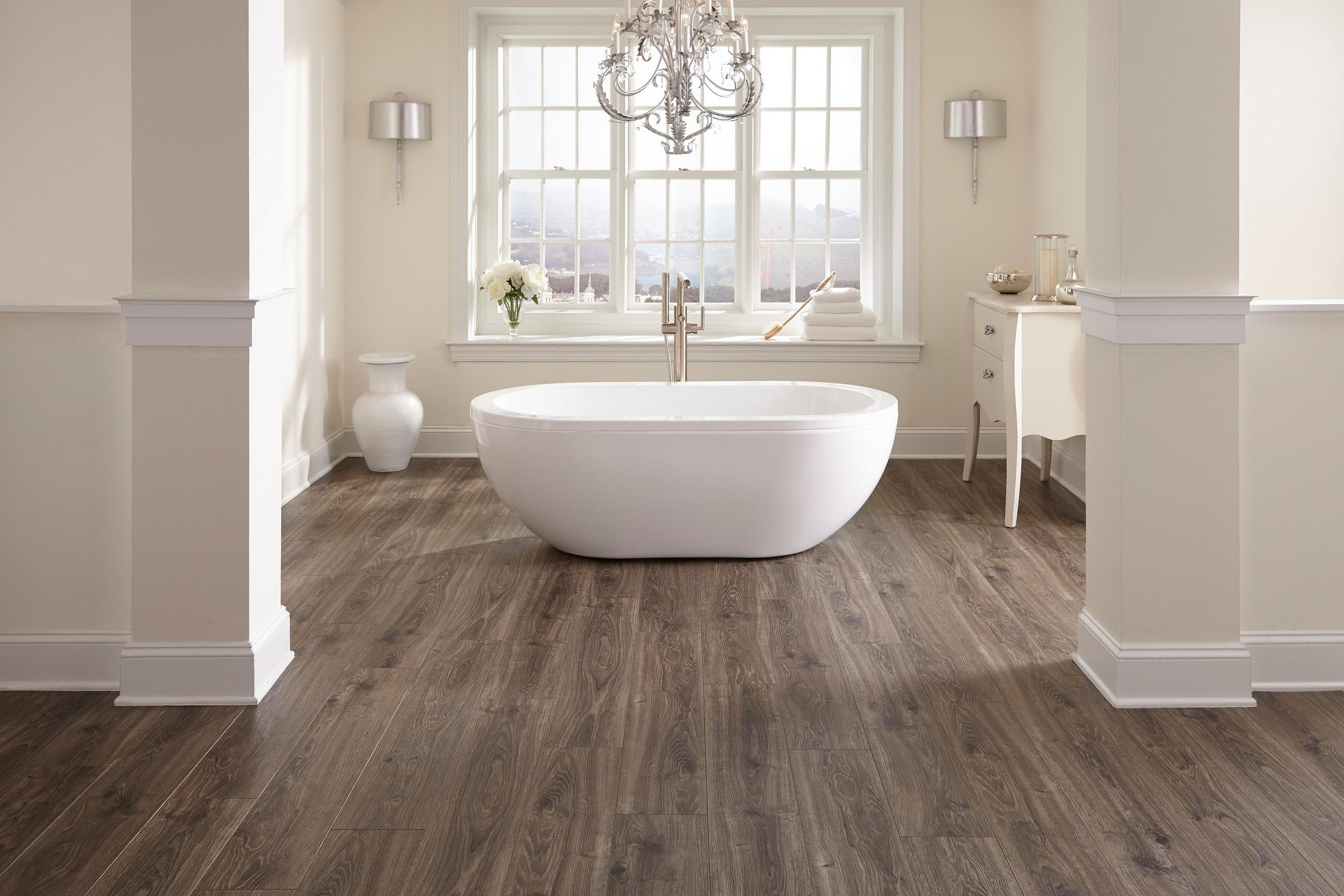 Bathroom 19 Aquaguard Smoky Dusk Water Resistant Laminate Floor Room