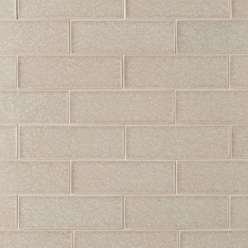 Flax Crackle Glass Tile 3 X 9 100086297 Floor And Decor