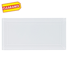 Clearance! Pure Snow Beveled Glass Tile