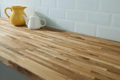 fumed oak butcher block countertop 12ft. - 144in. x 25in