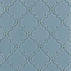 Fleur Spa Water Jet Cut Arabesque Glass Mosaic