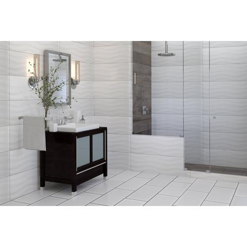 Pure White Polished Ceramic Wall Tile X Floor - 12x24 glossy white tile