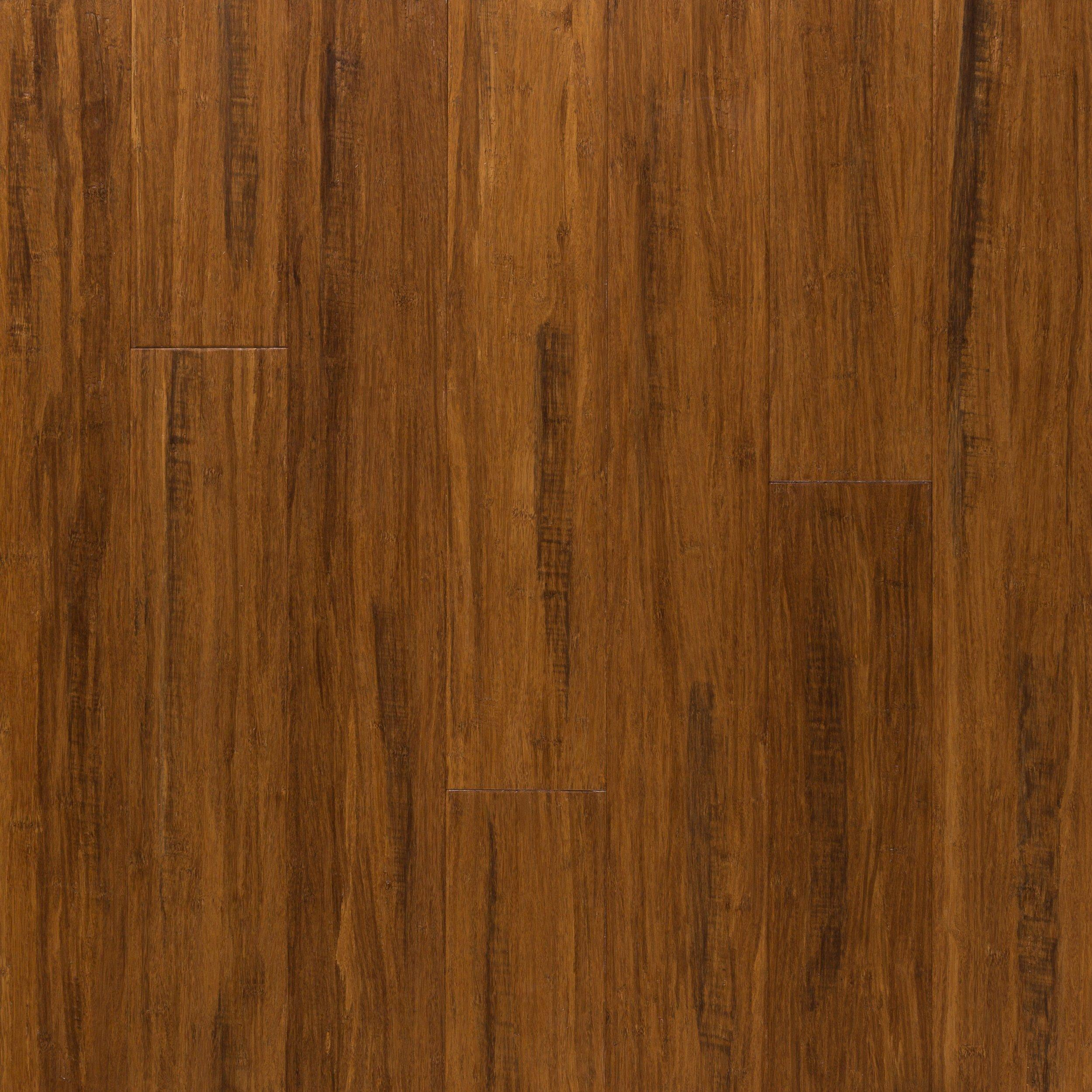 EcoForest Sienna Hand Scraped Locking Solid Stranded Bamboo   1/2in. X 5  3/8in.   100095421 | Floor And Decor