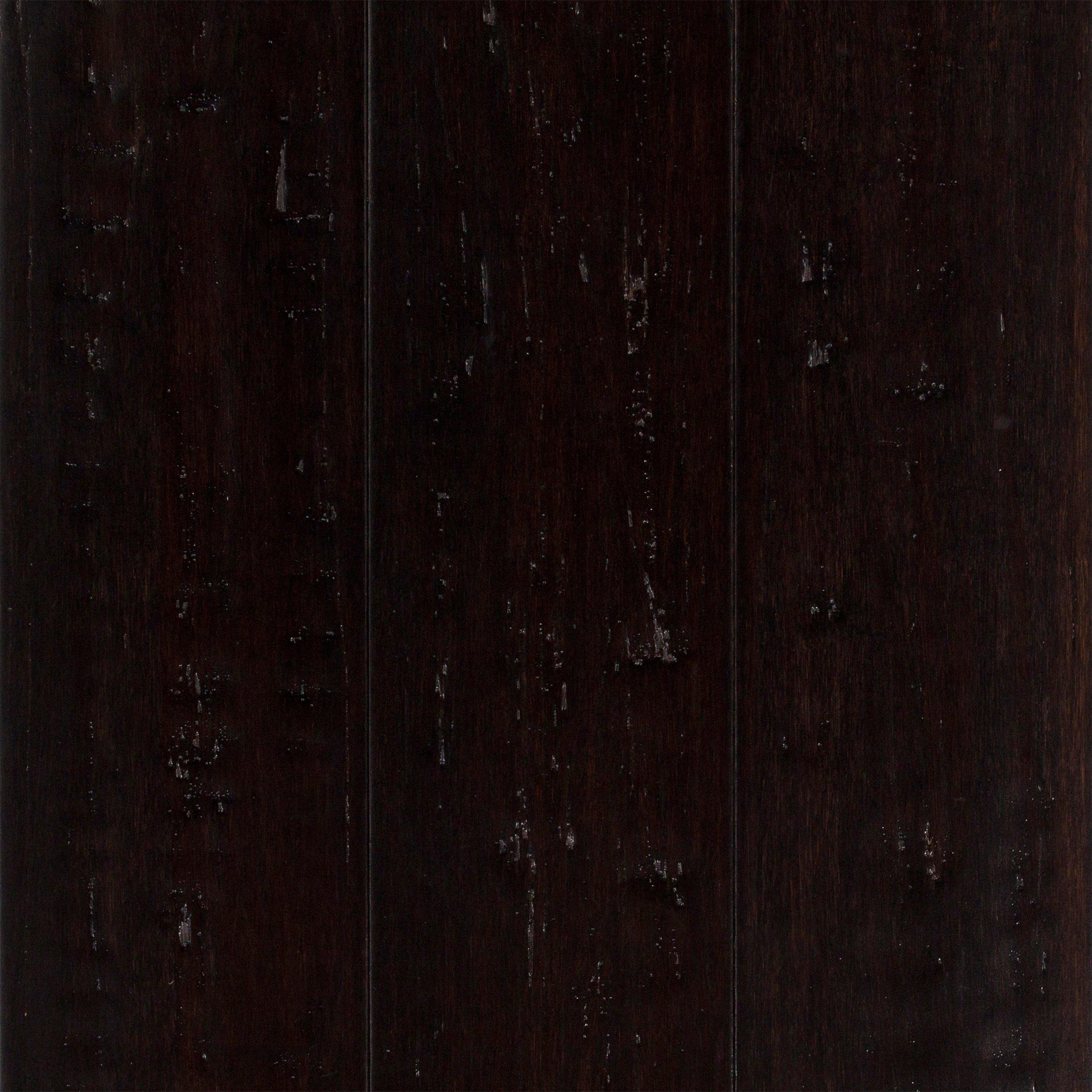 Titan Black Hand Scraped Locking Stranded Bamboo   1/2in. X 5in.    100095462 | Floor And Decor