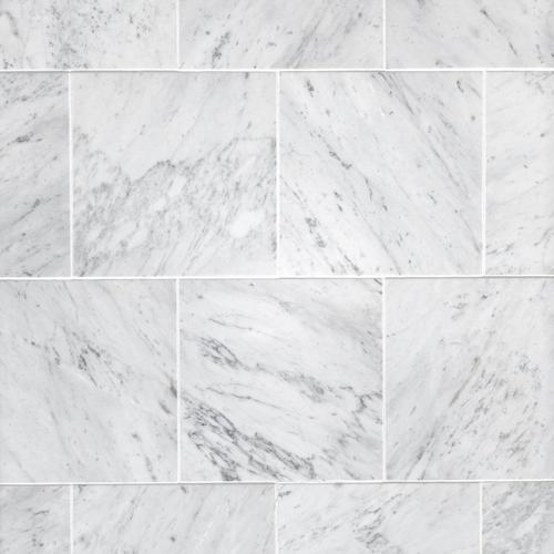 Bianco Carrara Honed Marble Tile 12 X 12 100100973 Floor And Decor