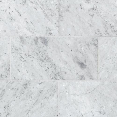 Bianco Carrara Honed Marble Tile 12 X 24 100100981 Floor And Decor
