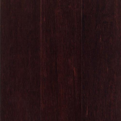 Dark Cherry Stranded Locking Engineered Bamboo 12in X 5in