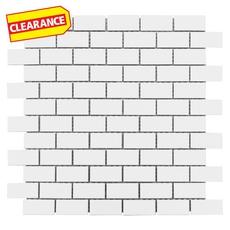 Clearance! White Brick II Porcelain Mosaic