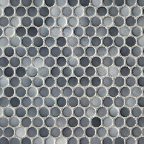 Dark Gray Ii Penny Porcelain Mosaic 10 X 12 100104652 Floor