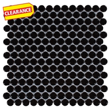 Clearance! Black II Penny Porcelain Mosaic
