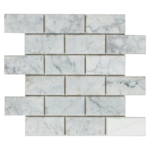 Beveled Bianco Brick Polished Mosaic 12 X 12 100104967 Floor