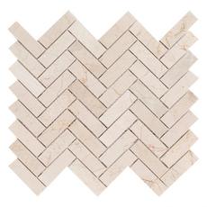 Crema Marfil Herringbone Marble Mosaic