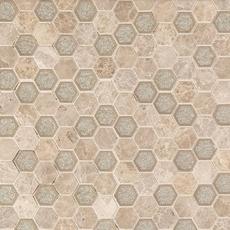 Seafoam Crackle Hexagon Marble Mosaic