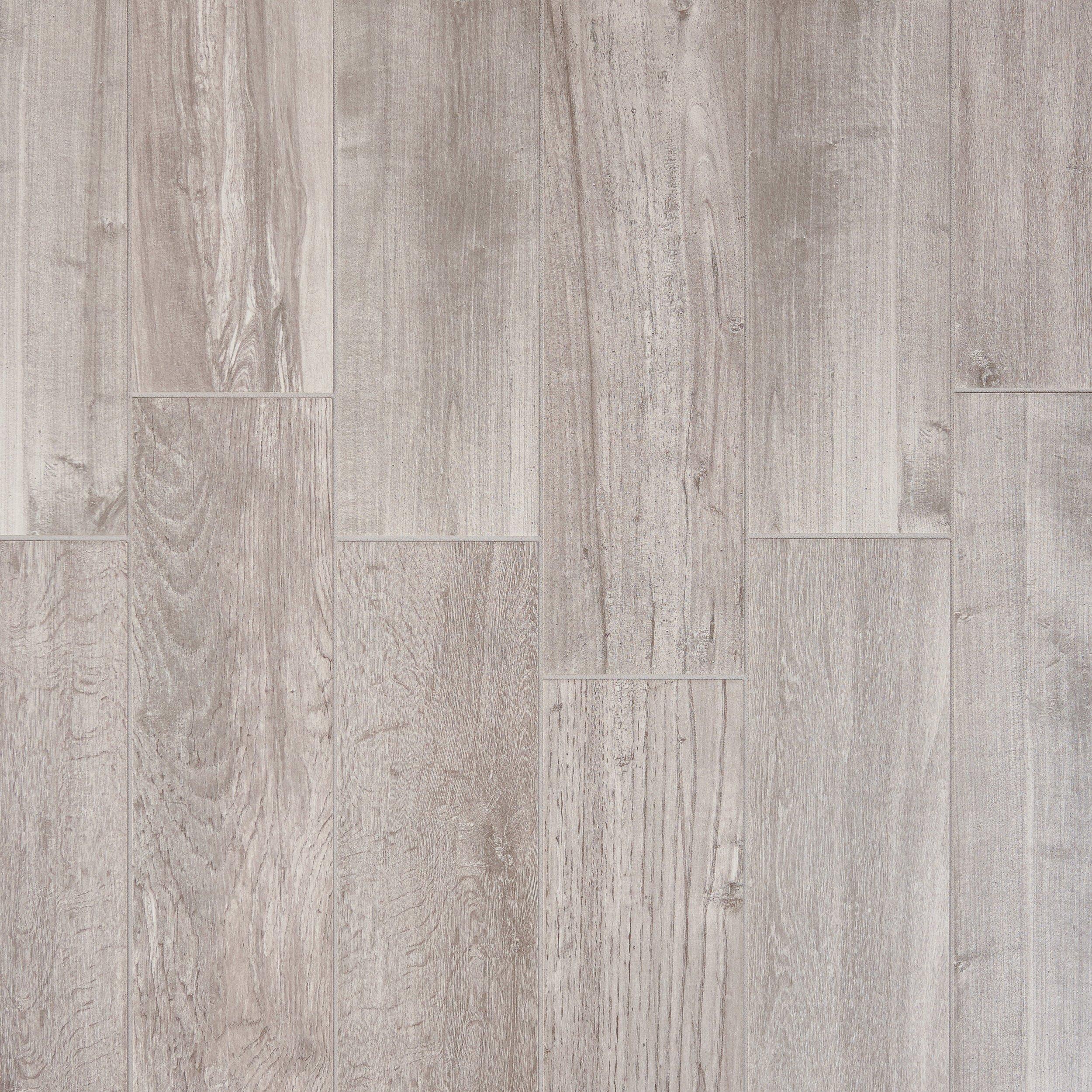 Lumber Gray Wood Plank Porcelain Tile 6in x 24in 100105873
