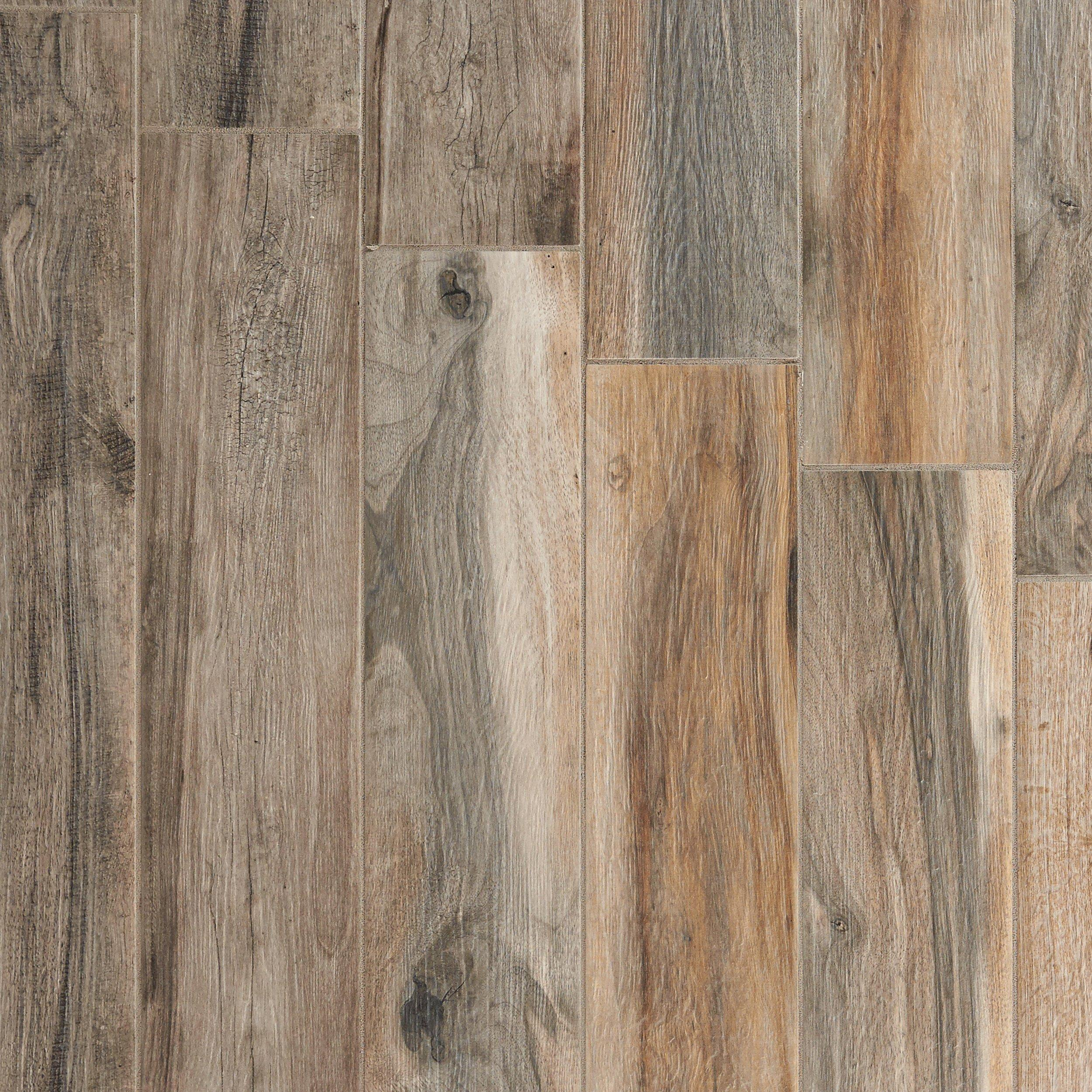 Soft Ash Wood Plank Porcelain Tile 6 x 40 100105923 Floor