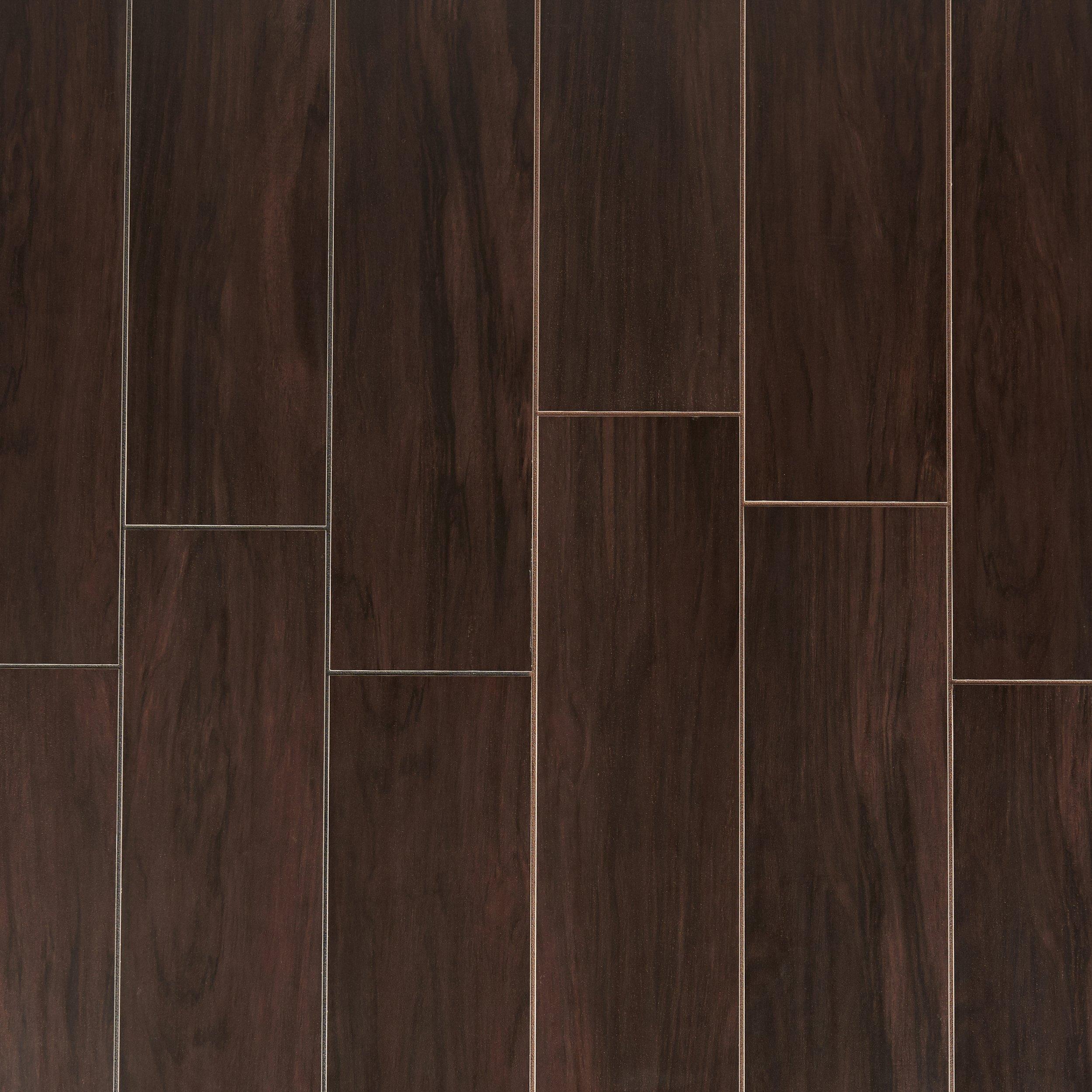 Stockbridge Espresso Wood Plank Porcelain Tile 6 x 24