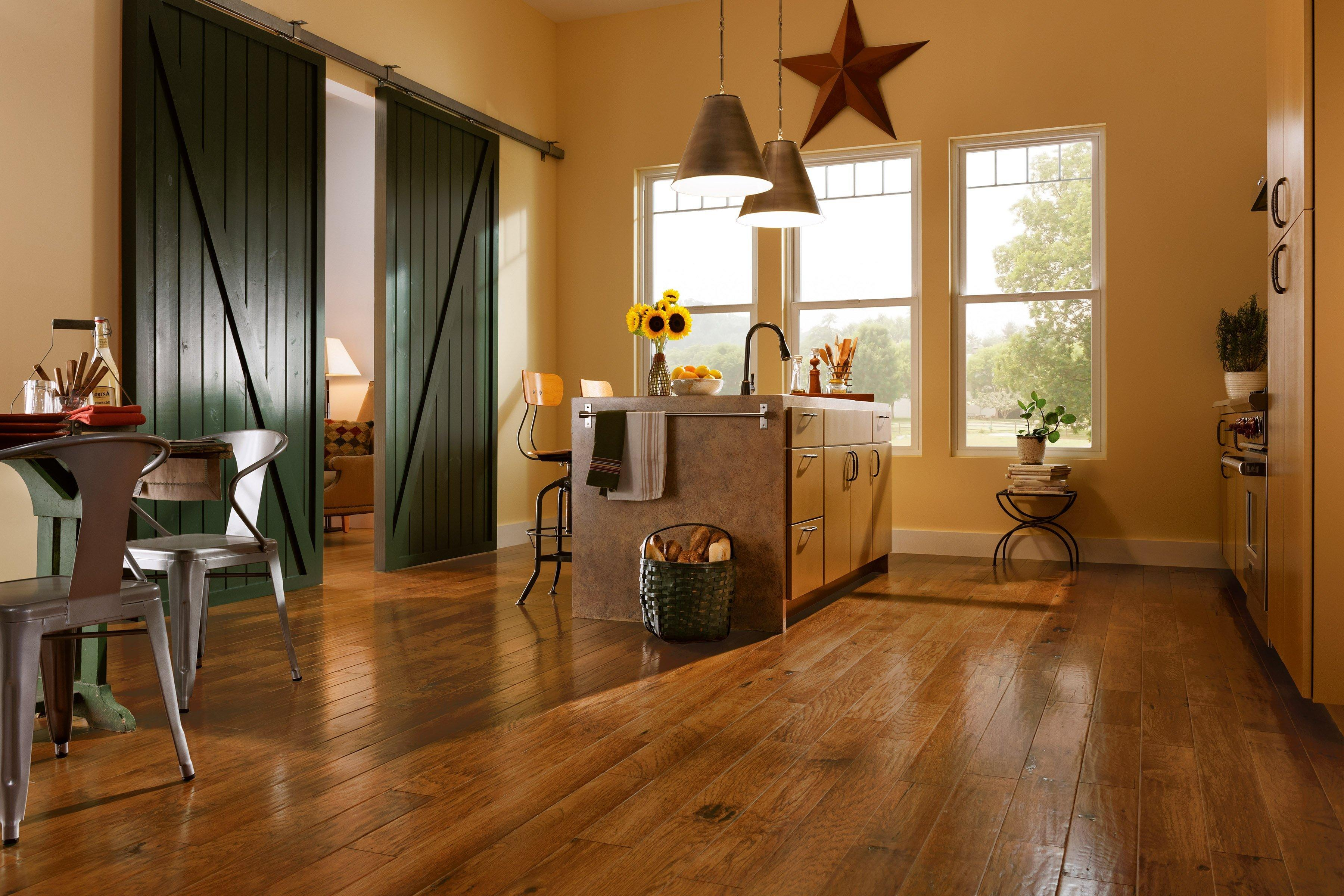 Chestnut Hickory Hand Scraped Engineered Hardwood   3/8in. X 5in.    100109131 | Floor And Decor