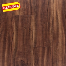 Clearance! NuCore Brazilian Teak Hand Scraped Plank with Cork Back