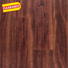 Clearance! NuCore Mahogany Hand Scraped Plank with Cork Back