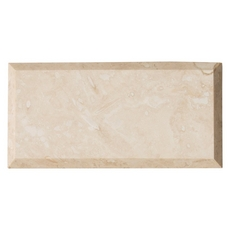 Light Beveled Travertine Tile