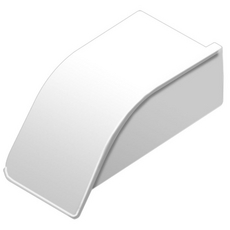 Schluter DILEX-AS Bright White 11/32in. PVC Left End Cap