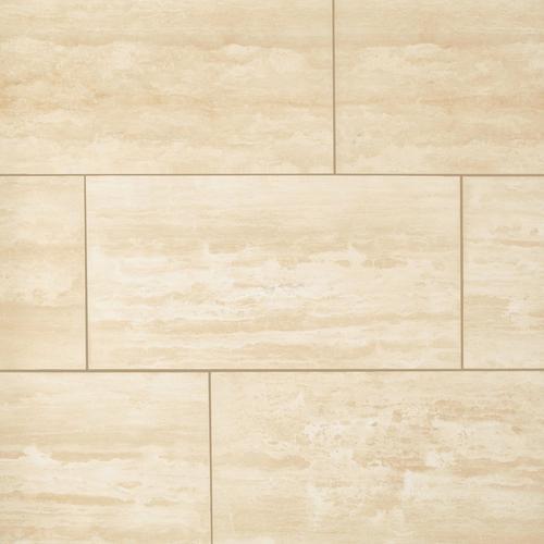 Ivory Vein Cut Honed Travertine Tile 12 X 24 100116029 Floor