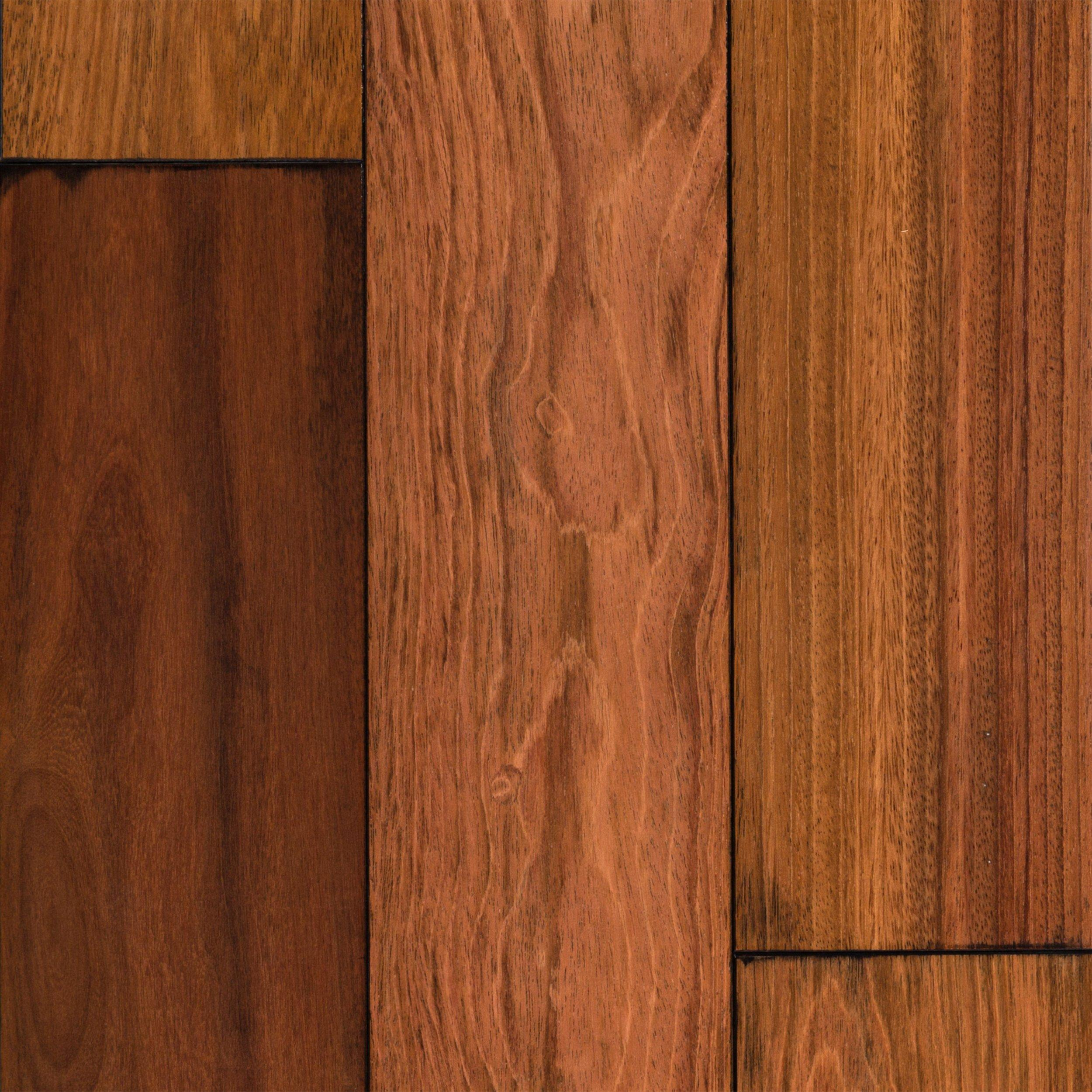 Natural Brazilian Cherry Hand Scraped Solid Hardwood   3/4in. X 5 1/2in.    100120609 | Floor And Decor