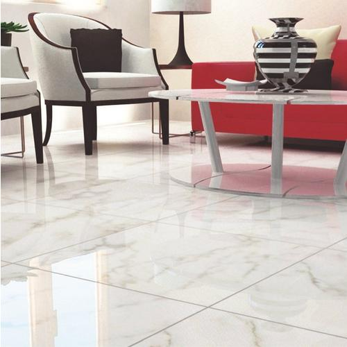 Carrara White High Gloss Ceramic Tile 24 X 24 100128834 Floor