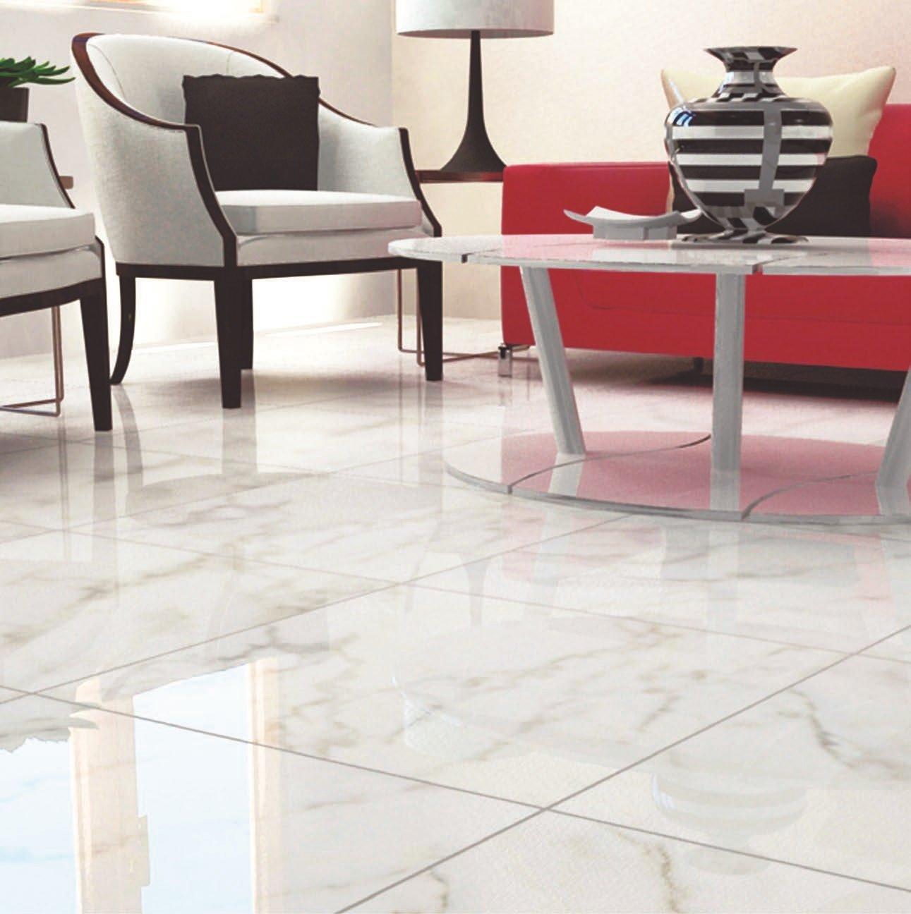 Bon ... Carrara White High Gloss Ceramic Tile. Click To Zoom