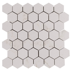 Carrara Matte Hexagon Porcelain Mosaic