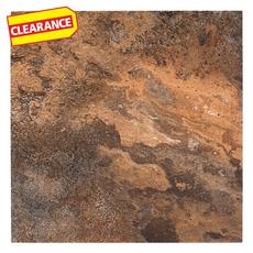 Clearance! Decora Lava Slate Beveled Vinyl Tile