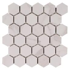 Dimarmi Bianco Hexagon Porcelain Mosaic