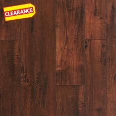 Clearance! Hampstead Winy Coffee Hand Scraped Random-Width Laminate