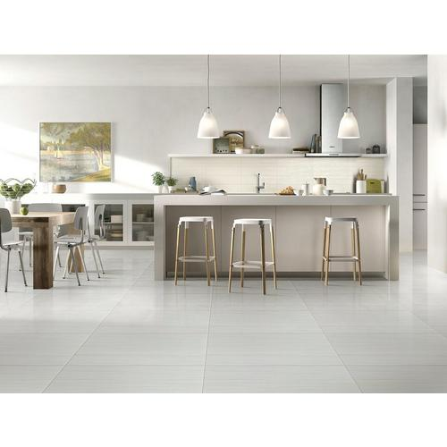 Fibra White Polished Porcelain Tile 12 X 24 100132042 Floor