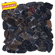 Clearance! Flat Tigerskin Polished Pebblestone Mosaic