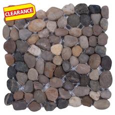 Clearance! Round Mixed Honed Pebblestone Mosaic
