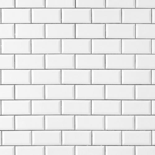 bright white ice beveled ceramic wall tile 3 x 6 100132455