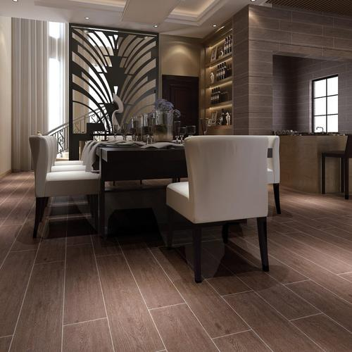 maduro dark wood plank ceramic tile - 8in. x 40in. - 100132778