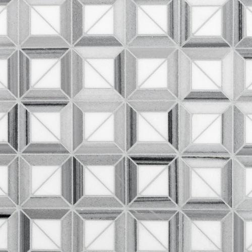 Framed thassos marble mosaic 12 x 12 100139096 floor and decor tyukafo