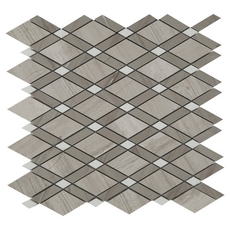 Valentino Gray Diamond Marble Mosaic