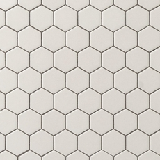 Metro Gray Matte Hexagon Porcelain Mosaic