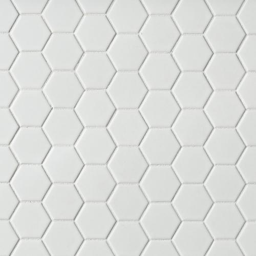 . Metro White Matte Hexagon Porcelain Mosaic   12 x 12   100139260