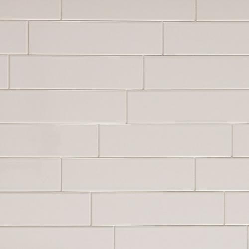 Metro White Glossy Ceramic Tile - 4in. x 16in. - 100139302 | Floor and Decor