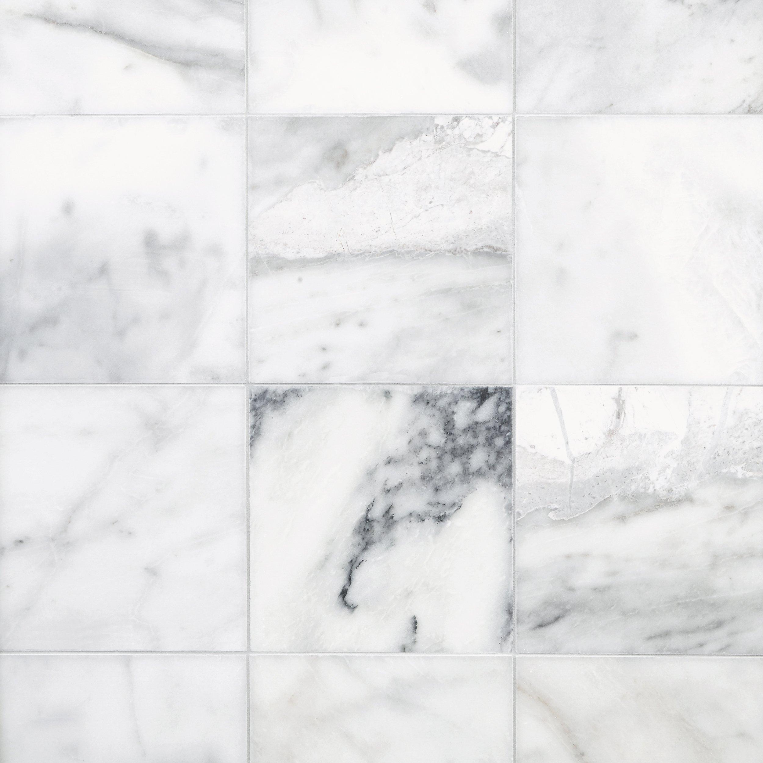 Ocean White Marble Tile 12in x 12in 100139344 Floor and Decor
