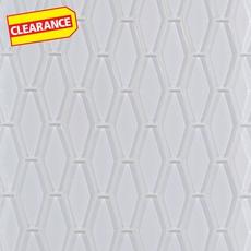 Clearance! Pure Snow White Elongated Hexagon Glass Mosaic