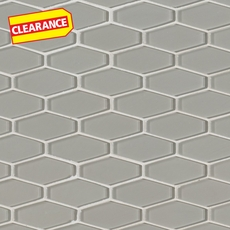Clearance! Pure Wool Elongated Hexagon Glass Mosaic